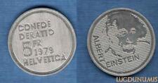 Suisse – 5 Francs 1979 Albert Einstein Portrait – Switzerland Swiss