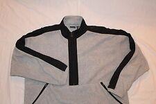 Winner Half 1/2 Zip Pullover Polyester 2XL XXL Gray Black Pockets Jacket Men's