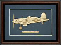 Chance Vought Corsair F4U-1D - Wood Art