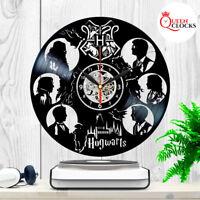 Harry Potter Hogwarts Vinyl Record Wall Clock Birthday Gifts Ideas Home Decor