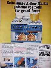 PUBLICITÉ 1967 ARTHUR MARTIN FEUX ET FOUR SANS ALLUMETTE - ADVERTISING