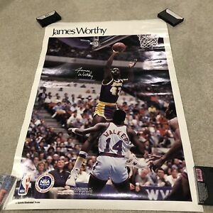 Vintage James Worthy Sports Illustrated Poster NBA Lakers