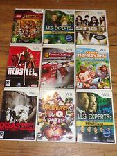Lot De 9 Jeux Nintendo Wii
