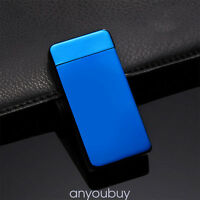 Electric Lighter Dual Arc Cigarette Plasma Recharge Windproof Flameless USB ANY8
