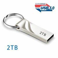 2TB Flash Drive USB 3.0 Memory Stick Pendrive Disk Metal Key Thumb for Laptop PC