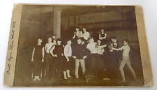 1896 Photo Young Men Boxing in Pratt Gymn