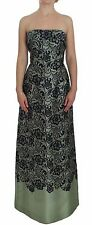NWT DOLCE & GABBANA Dress Green Floral Lace Silk Corset Maxi IT40 / US6 /S