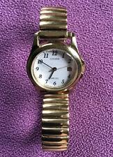 Ladies Vintage Citizen WR 50 Gold Tone Quartz  Watch - Stretchy Bracelet.