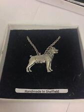 """Rottweiler PP-D20 Dog Emblem on Silver Platinum Plated Necklace 18"""""""