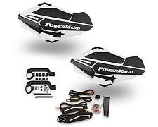 Powermadd Sentinel LED Handguards Guards White / Black Mount Kit All Sport ATV's