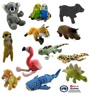 PLUSH ANIMAL x1 soft stuffed toy cute teddy bear doll kids birthday gift