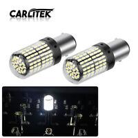 2x 1157 BAY15D LED Canbus White 2000LM 3014 144SMD Car Brake Signal Light Bulbs