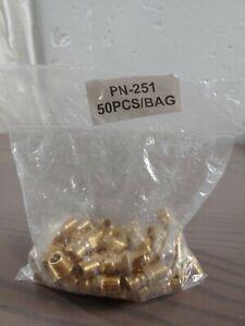50pcs PARKER Coupler Nipple,1/8-27,1/4 In. Body,Brass, PN251 Sealed 50pk
