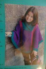 Fiber Trends Knitting Pattern Ch-43X Valerie a Child's Poncho size 4-14
