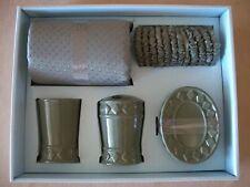 5 Piece Solid Green Ceramic Bathroom Accessory Set, NEW IN BOX!