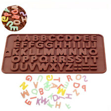 Silicone Alphabet Chocolate Mould Cake Topper Fondant Mold Biscuit Birthday