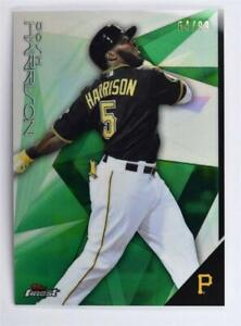 2015 Finest Green Refractors #52 Josh Harrison /99 - NM-MT