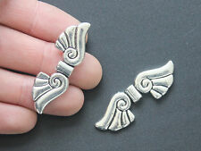 10 Tibetan Silver Angel Wings Charms Spacer Pendant Beads Jewelry Findings 43mm