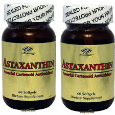 2x Astaxanthin 10 mg 60 Softgels Powerful Cartenoid Antioxidant, 4 Months Supply