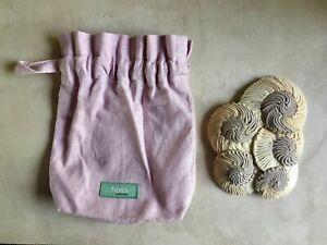Anthropologie Hoss Intropia Beige Cream Brown Hair Comb with Original Bag