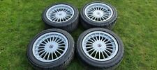 "Genuine E30 Alpina 16"" 4x100 staggered alloy wheels  325i sport 320i 318is etc"