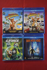 Beverly Hills Chihuahua G-Force Mars Needs Moms Disney Blu-ray Lot of 4 New