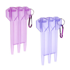 2 Pieces Portable Nylon Dart Storage Box Transparent Dart Case with Clip