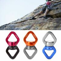 Outdoor Rock Climbing Rotary Rope Connector Rappel Device Yoga Hammock Carabiner