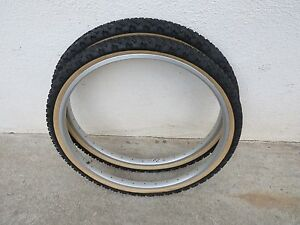 FULL FORCE 26 X 2.00 MOUNTAIN BIKE TIRES VINTAGE NOS SKIN WALL RITCHEY FISCHER