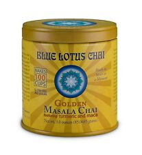 Blue Lotus Chai Golden Masala Tea w Turmeric and Maca 3 OZ Tin Can Make 100 Cups