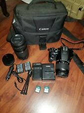 Used Canon EOS Rebel T6 18.0MP Digital SLR Camera with 18-55 mm and 75-300 mm