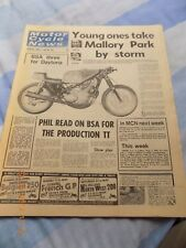Motor Cycle News/OSSA/Barry Sheene/Kawasaki A1-RA-3 cylinder/BSA Rocket 3 cover