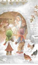 CONSTANZA -  Carte postale illustrée Noël - Dans l'étable - Vintage