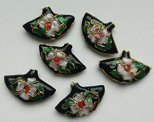 6 dell'era Maji Perline, Nero/Rosa/Verde Fan 25 mm gioielli