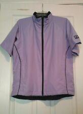 ProQuip Windshield Golf Wind Top Rain Jacket Women's Sz L Purple Half Sleeve Nwt