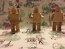 Wooden Lego Man Mini Figure Collectable Wood Magnetic Moving Parts!!!!