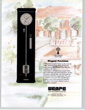 Stiluhren Stattler Pendulum Wall Clock Model 1935 WEMPE 1994 Print Ad