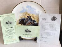 "Large Wedgwood Plate ""Hippopotamus"" The David Shepherd Wildlife Collection Spink"