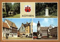 KÖTHEN Sachsen-Anhalt DDR Mehrbild-AK ungelaufen ua. Bach-Gedenkstätte Holzmarkt