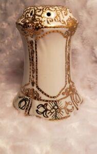 Antique Nipon Gold Moriage Swirls Muffineer Hat Pin Holder