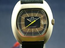 NOS Vintage Jaquet Girard Geneve Automatic Swiss Watch 1970s Retro New Old Stock