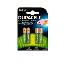 DURACELL Batterie recharge Ultra mini stilo AAA/4 pz ricaricabili, 850mAh/1,2V