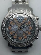 Mens TECHNO Watch Stainless Steel Chronograph Diamond 3atm 48.5mm Wrist Watch-NR
