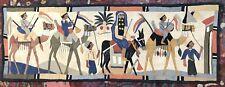 VTG 1920's Egyptian Art Deco Appliqué Souvenir Handmade Textile Wall Hanging