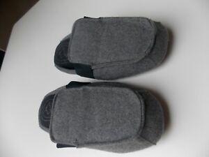 Filzpantoffeln Hausschuhe Pantoffeln Latschen Puschen Grau