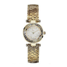 GUESS Collection GC Y11003L1 LADY CHIC Damenuhr Edelstahl Gold Leder Armbanduhr