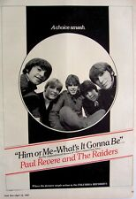 PAUL REVERE & THE RAIDERS 1967 Poster Ad HIM OR ME WHAT'S IT GONNA BE