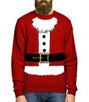 Santa Costume Sweatshirt Jumper Sweater Christmas Novelty Men Women Kids JC24