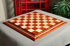 "Signature Contemporary II Chess Board - Bubinga/ Curly Maple - 2.5"" Squares"