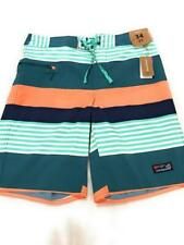 """New Patagonia Men's 21"""" Stretch Wayfarer Board Shorts, Fitz Stripe, Size 34"""